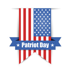label hanging on the wall to day of patriot vector image