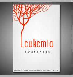 Leukemia awareness poster vector