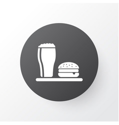 lunch icon symbol premium quality isolated beer vector image