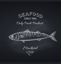 mackerel hand drawn icon vector image