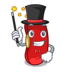 Magician red beans pile isolated on mascot vector