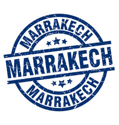 Marrakech blue round grunge stamp vector