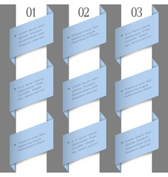 Modern paper numbered banners vector image