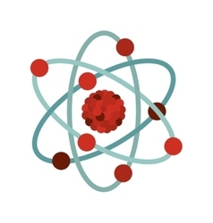 multicolored atom icon vector image