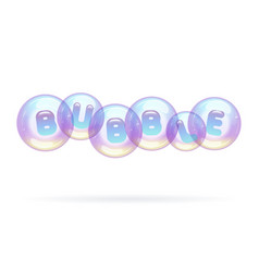 multicolored soap bubbles hung in air vector image