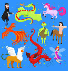 Mythological animal mythical creature vector