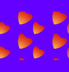 orange hearts love seamless pattern background vector image
