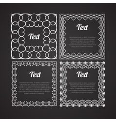 Ornamental frames set design Retro template vector image