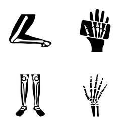 orthopedic and spine solid set vector image
