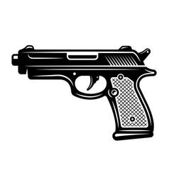 pistol gun in monochrome style vector image
