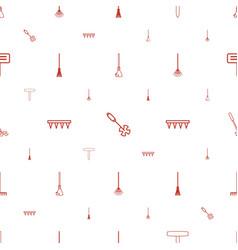 Rake icons pattern seamless white background vector