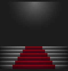 red carpet on the stairs image vector image
