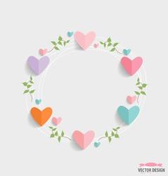 Romantic card spring floral design element vector