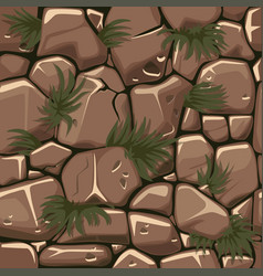Seamless texture stones with grass cobblestone vector