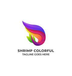 shrimp colorful design concept template vector image