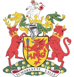 Somerset County Coat-of-Arms vector image