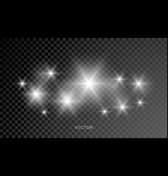 Star shine glow sparks bright sparkle with lens vector