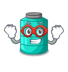 super hero plastic cartoon water tank in the vector image