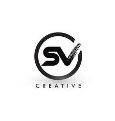 sv brush letter logo design creative brushed vector image