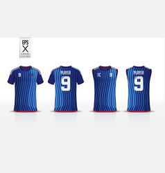 T-shirt sport mockup design vector