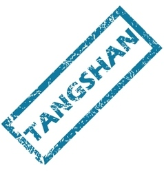 Tangshan rubber stamp vector image