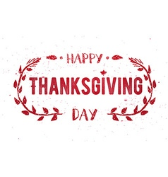 Thanksgiving greeting card Happy Thanksgiving Day vector image