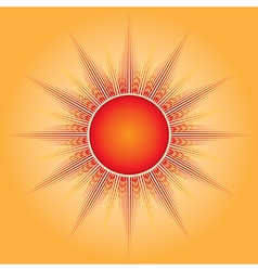 The sun vector image