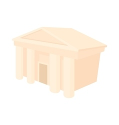 Theatre building icon cartoon style vector