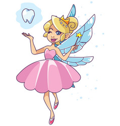 Tooth fairy on white vector