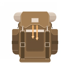 Tourist Backpack Icon vector