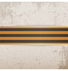 Victory Day Symbol - St George striped Ribbon vector image