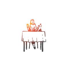 woman cafe coffee table girl concept vector image