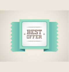best offer vector image vector image