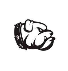 bulldog head isolated on white background Design vector image