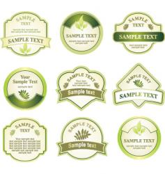 label assortment vector image vector image