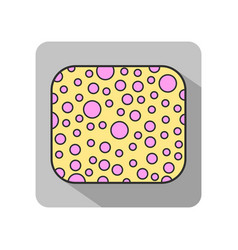 sponge the subject of personal hygiene flat icon vector image