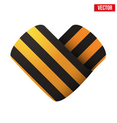 George ribbon icon in the form of heart vector
