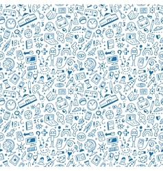 school seamless background vector image vector image