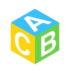 ABC block isometric 3d icon vector image vector image