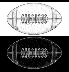 american football ball hand drawn sketch vector image
