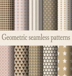 brown geometric seamless pattern vector image