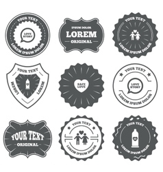 Condom safe sex icons Lovers couple sign vector image