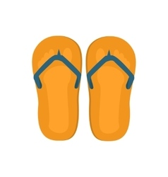 Pair of flip-flops isolated on white background vector image