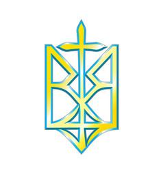 ukrainian nationalism design vector image vector image