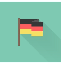 flat Germany flag with long shadow vector image