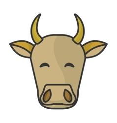 Indian cow head vector image