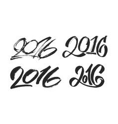 New Year 2016 hand lettering design set vector image vector image