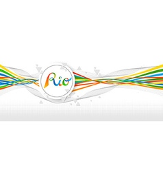 Rio Brazil color banner design with abstract art vector image