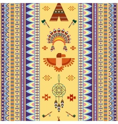 vintage tribal ethnic seamless pattern for vector image