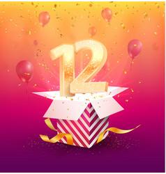 12 th years anniversary design element vector